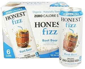 Honest Beverages Honest Fizz Zero Calorie Soda Root Beer -- 6 Cans
