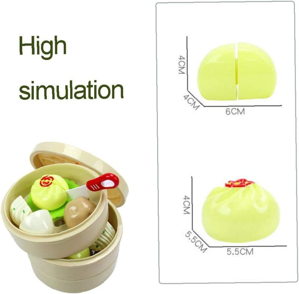 ChildrenS Chinese Snack Cutting Steamer Toy Set Mini Kitchen Pretend Play Kitchen Toys Educational Playset For Kids 16Pcs