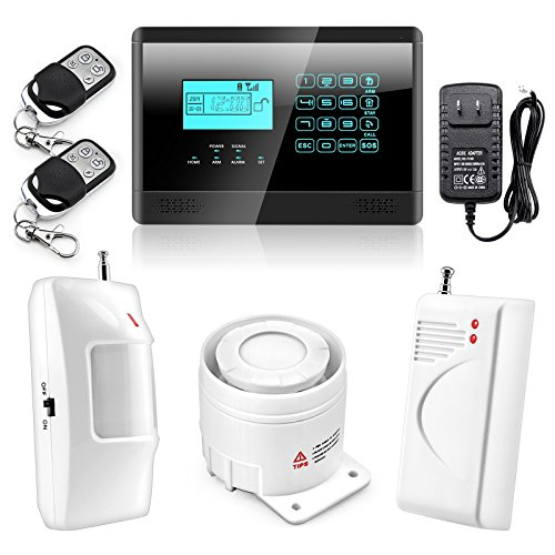 Wolf-Guard Touch Keypad Wireless GSM SMS Auto-dial Smart Home Security Burglar Alarm System With Touch Keypad