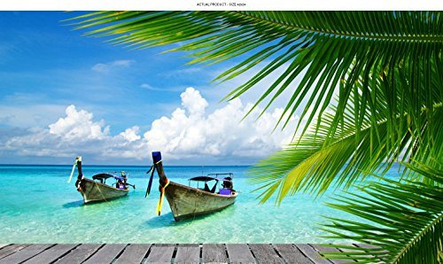 - Windowpix 42x24 Inch Decorative Static Cling Window Film Kayaks and Island Paradise Printed on Clear for Window Glass Panels. UV Protection, Energy Saving.