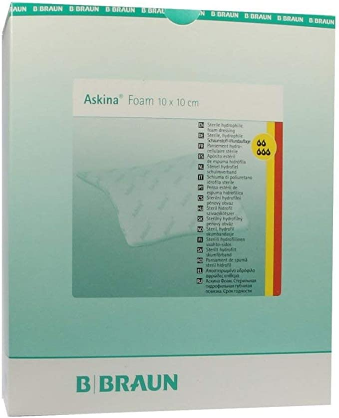 Askina Espuma estéril antiadherente 10 x 10 cm De B. Braun AG: Amazon.es: Salud y cuidado personal