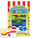 Amscan (279207) Carnival Fair Fun Egg Relay Game Party Activity, Plastic Pack of 15 Supplies , 45 Pieces