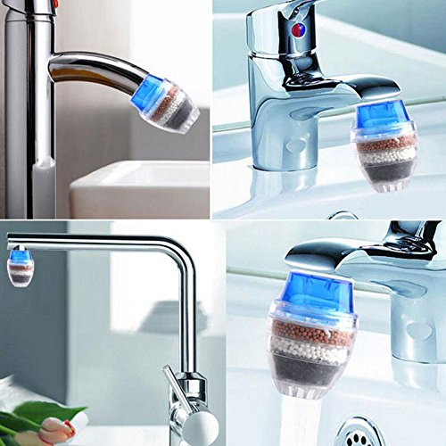 AMAZZANG-New Home Kitchen Coconut Carbon Faucet Tap Water Clean Filter Purifier Cartridge Adjustable Cartridge Belt