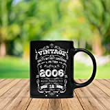 Vintage Born In 2006 Aged Perfectly 12 Years Old Funny 12th Birthday Gift Mug For Kid Boy And Girl,...