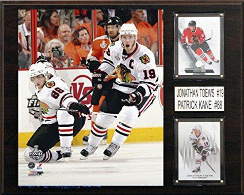 NHL Chicago Blackhawks Patrick Kane-Jonathan Toews Player Plaque, 12 x 15-Inch