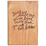 Dear Little One Laser Cut Wood Greeting Card (Baby Shower/New Mom/New Baby/Nursery)