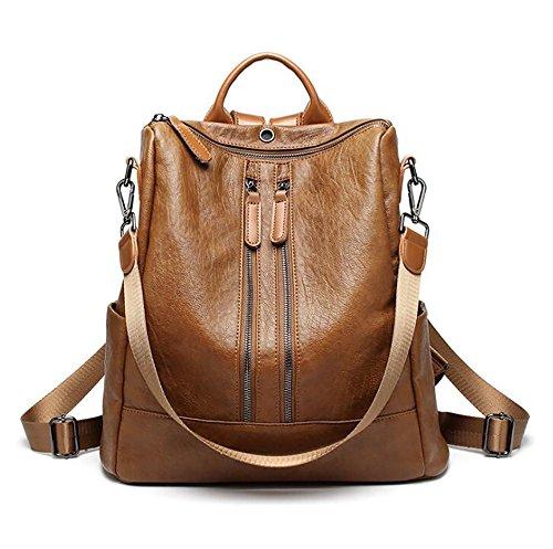 pu Soft function Leather 34cm Bag 32 Casual Handbag 14 Fashion Multi Women's Backpack OnxXIpqzY