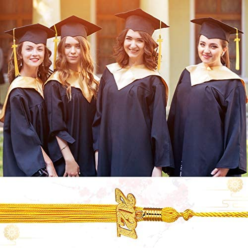9.4 Inches DragonflyDreams 10 Pieces Graduation Tassel Graduation Cap Tassel with 2020 Year Charm for Graduation Parties Green