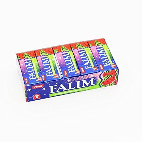 Falim Sugarless Plain Gum Watermelon Flavored, (20 Pack (100 Pieces))