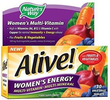 Image of Alive! Tabletas Energía de Mujer 30 onzas por Día