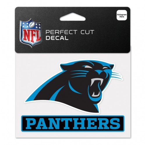 WinCraft NFL Carolina Panthers WCR47938014 Perfect Cut Color Decal, 4.5