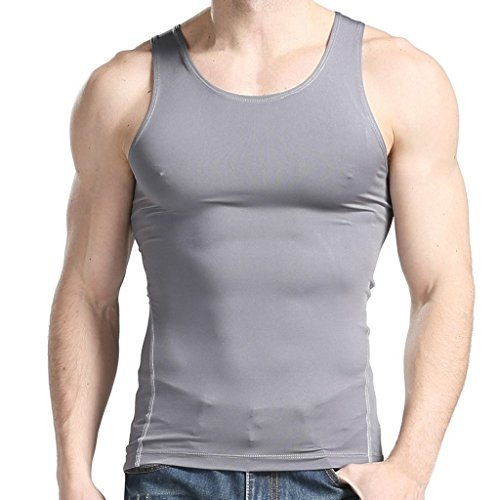 XUDIAN Mens Tank Top Sleeveless A-Shirt Crew-Neck