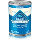 Blue Life Protection Dog Food Blue Buffalo Homestyle Recipe Natural Adult Wet Dog Food, Chicken 12.5-Oz Can (Pack Of 12)