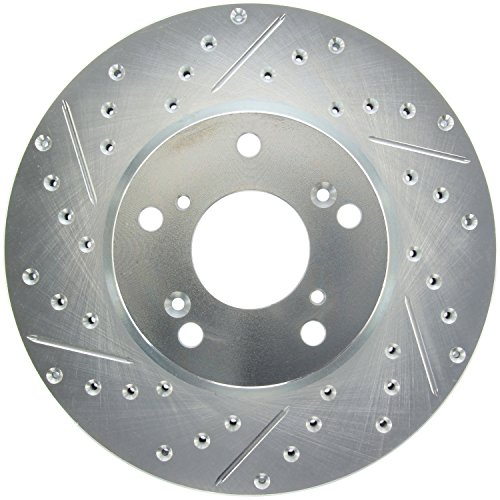 Slotted Front Rotor Stoptech (StopTech 227.40036R Select Sport Drilled and Slotted Brake Rotor; Front Right)