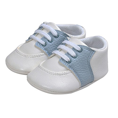 Pictures of Kuner Newborn Baby Boys Girls Pu Leather White+sky Blue 7