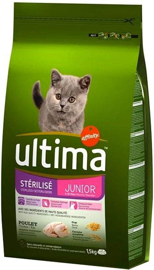 Ultima Esterilizados 1,5 Kg De Pollo Croquetas Gato Junior (Set De ...