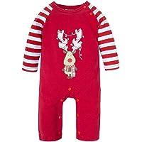 BIG ELEPHANT Baby Boys' or Girls' 1 Piece Elk Christmas Long Sleeve Romper Pajamas M03