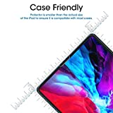 amFilm (2 Pack) Glass Screen Protector for iPad Pro 12.9 inch (2020 & 2018 Models) (2 Pack), Tempered Glass, Ultra Sensitive, Face ID and Apple Pencil Compatible
