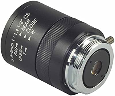 "Security Lens 1/3"" 3.5-8mm f1.4 Varifocal, Fixed Iris CCTV Lens, CS Mount from cambase"