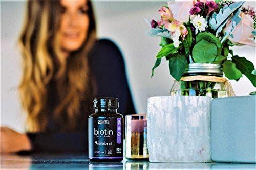 Biotin Infused with Organic Virgin Coconut Oil - (120 Veggie-softgels) (5000mcg)