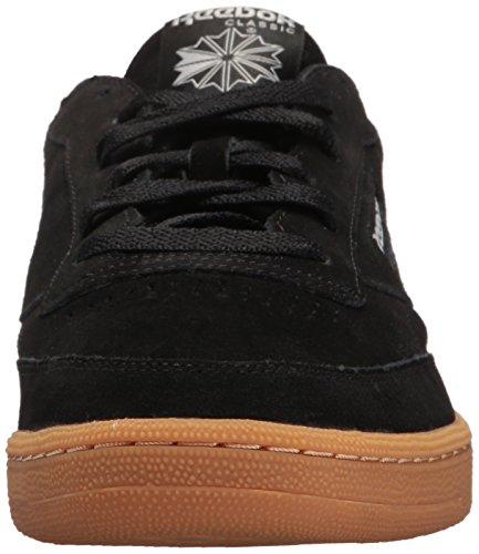 Reebok Mens Club C Sneaker 85 Gs Nero / Teschio Grigio-gomma