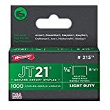 Arrow Fastener 215 Genuine JT21 5/16-Inch Staples, 5-Pack