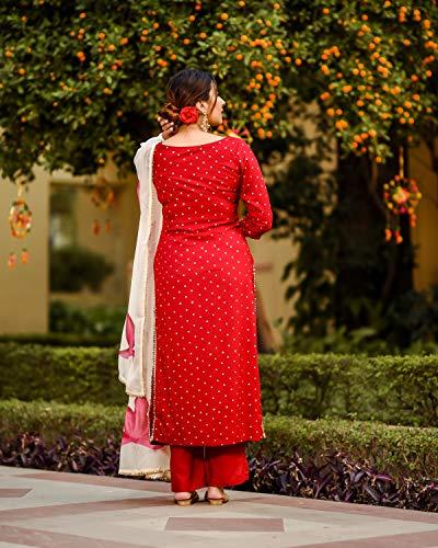 ANNI DESIGNER Women's Raspberry Handpainted Suit Set (Rayon Black) Discounts Junction