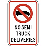 Bowen Rhodes Aluminum Industrial Notices Sign, Reflective 18 x 12 in. with Shipping / Receiving info in English, White