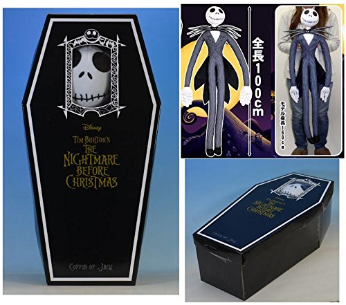 The Nightmare Before Christmas Jack Skellington Jumbo plush with Coffin - Jumbo Jacks