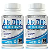 ACNE TREATMENT Acne Vitamins A to Zinc (2pk) Blackhead Removal Supplement. Best Acne Vulgaris Pills and Rosacea Treatment. Reduce Benzoyl Peroxide and...