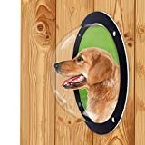 H&B Luxuries Durable Acrylic Dome Dog Window for Fence to View Outside for Satisfying Curious Pets FW058