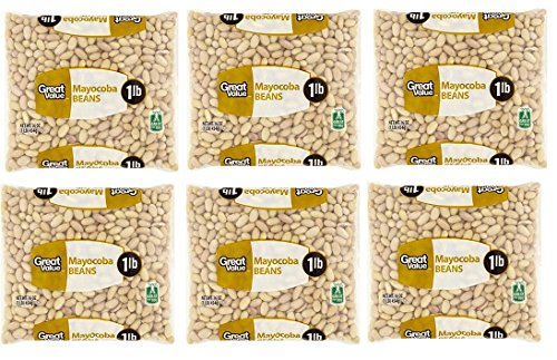 Great Value Mayocoba Beans, 16 oz, Pack of 6 by Great Value