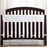 BreathableBaby | Railguard Plus Rail Cover and Liner | Helps Prevent Baby From Gnawing on Wood Rails |Helps Prevent Arms and Legs from Getting Stuck Between Crib Slats | White