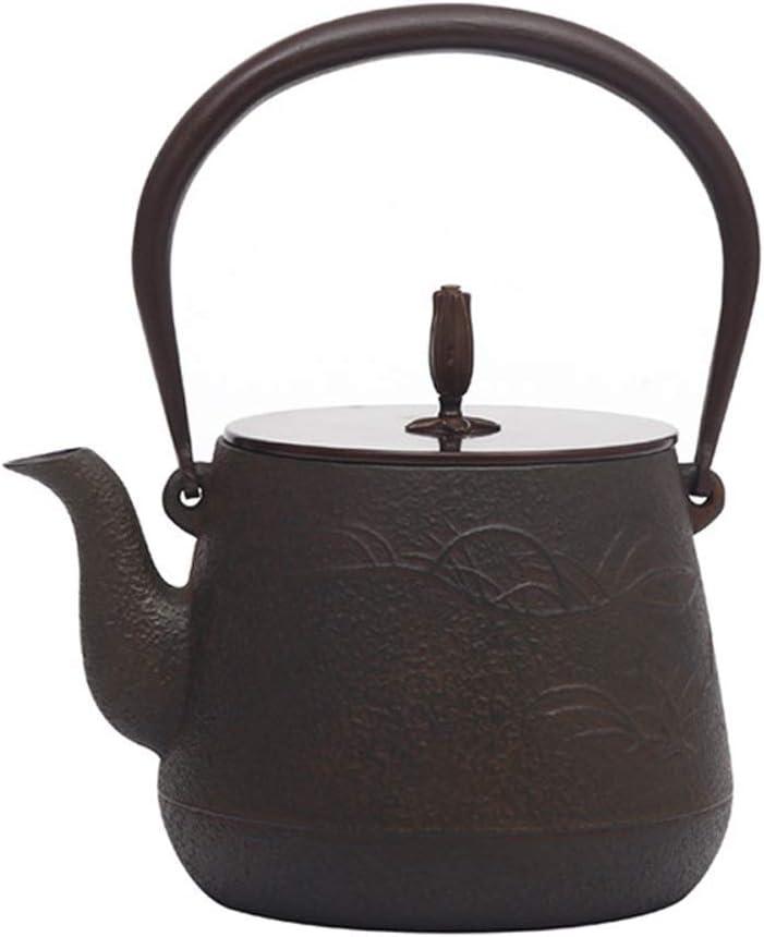 Infusor La cerámica antigua tetera vintage Tetera de hierro fundido sin revestir Caldera del pote del té, de cerámica de la estufa eléctrica, cocina de inducción, carbón de leña estufa de calefacción,