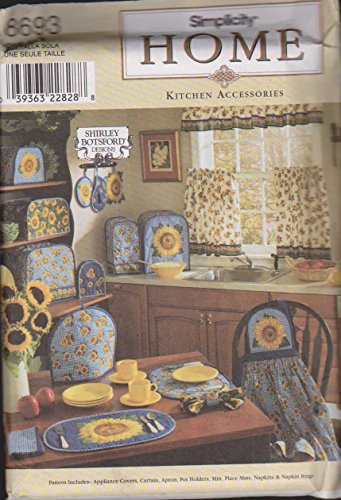 Simplicity Sewing Pattern Home Kitchen Accessories 8693