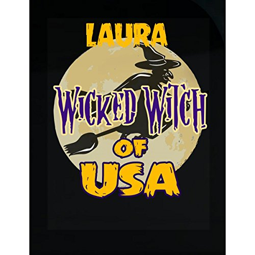 Prints Express Halloween Costume Laura Wicked Witch of USA Great Personalized Gift - Sticker -
