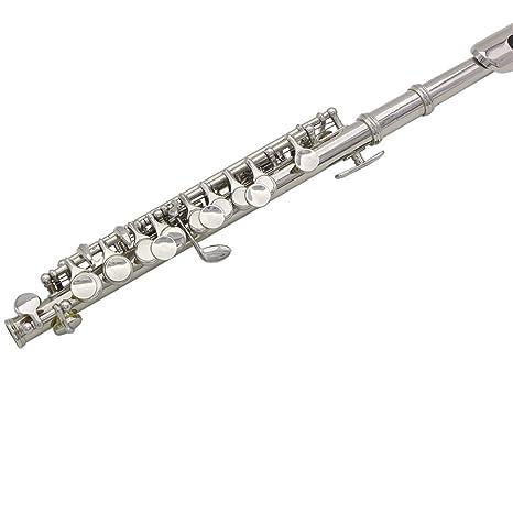 NUYI-4 Caja de Cuero, Piccolo de Plata, Instrumento de ...