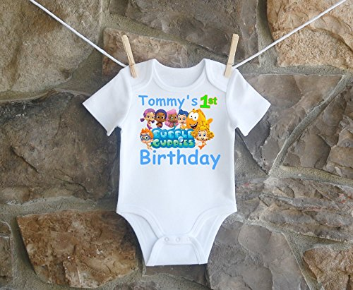 Bubble Guppies Birthday Shirt, Bubble Guppies Birthday Shirt For Boys, Personalized Boys Bubble Guppies Birthday Shirt by Lil Lady Treasures
