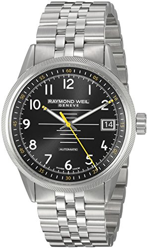 Raymond-Weil-Mens-Freelancer-Swiss-Automatic-Stainless-Steel-Casual-Watch-ColorSilver-Toned-Model-2754-ST-05200