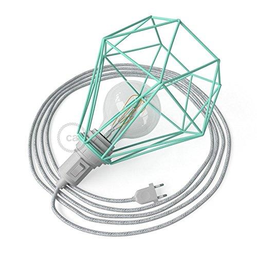 creative cables Table Snake con Pantalla Jaula Diamond Turquesa y ...