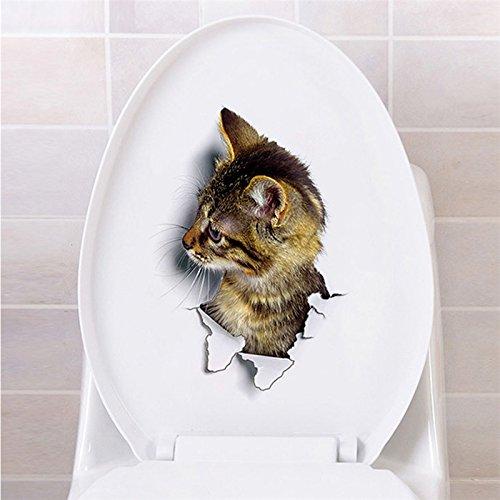 TTKX11 3D Vivid Cat Fish Piano Aseo Puerta Nevera Cocina Aseo Pegatinas De Pared Calcomanías Para La Decoración Casera Cartel Mural: Amazon.es: Bricolaje y ...