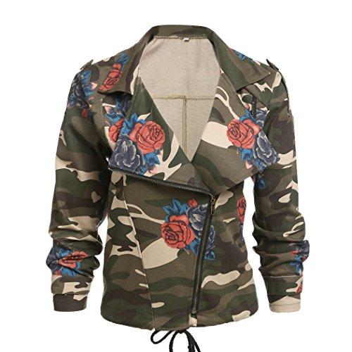 Romanstii Womens Camouflage Jackets Cardigans