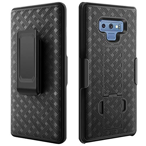 Casewind Case for Galaxy Note 9,Samsung Note 9 Protective Case,Full Body Protective Cover for Men with Built-in Rotating Kickstand Swivel Belt Clip Shockproof Holster for Samsung Galaxy Note 9 -Black