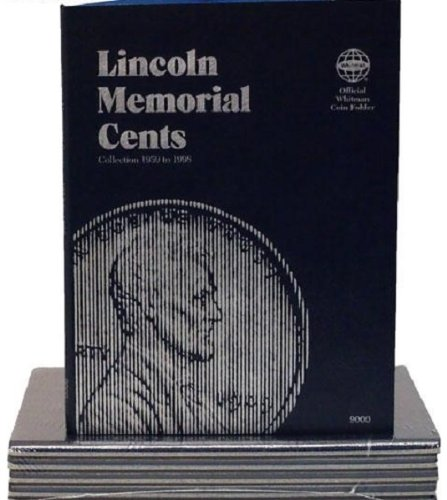(1 - Lincoln Cent....1959 to 1998 Lincoln Memorial (Whitman Folder) - - - )