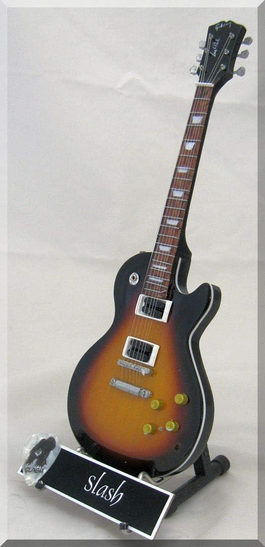 SLASH Guitarra miniatura con púa de guitarra Gibson Les Paul ...