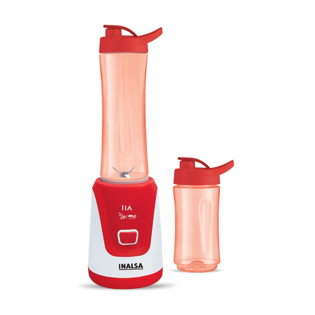 Inalsa Nutri-Blender Tia-300Watt With 2 Sip Bottles, (Red/White