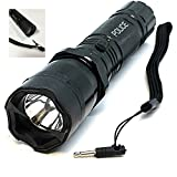 Tactical Police 510 MV Stun Gun LED Triple Mode Flashlight with Disable Pin Rechargeable