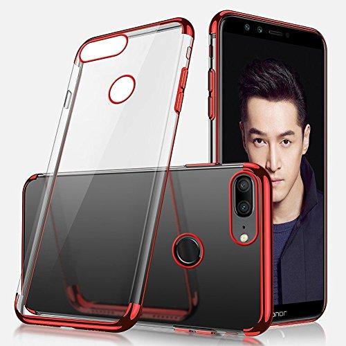 Lite Funda Huawei de Shockprrof shock Honor Slim Soft Funda Funda Anti transparente silicona Honor de Funda Huawei silicona EUWLY funda Fit para Funda Lujo Crystal Clear Rojo Lite 9 transparente Rubbe galvanoplastia 9 Gel YwzqgHd