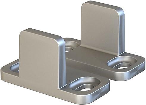 Juego de 2 guías de suelo para puerta corredera de aluminio, color plateado: Amazon.es: Bricolaje y herramientas