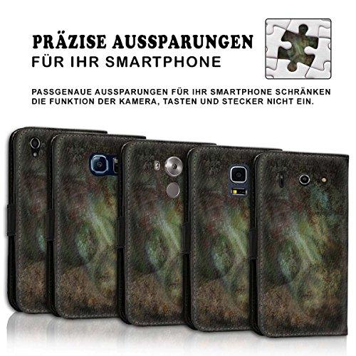 Wallet Book Style Flip Handy Tasche Case Schutz Hülle Schale Motiv Etui für Apple iPhone 4 / 4S - Design Flip MV237